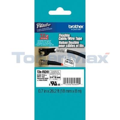 BROTHER TZ ID FLEXIBLE TAPE BLACK ON WHITE 18 MM X 8 M